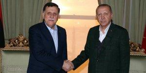 Cumhurbaşkanı Erdoğan, Fayez Mustafa Al-Sarraj'ı kabul etti