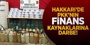 Hakkari'de terör örgütü PKK'nın finans kaynaklarına darbe