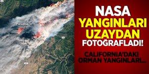California'daki orman yangınları uzaydan fotoğraflandı