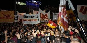 Galatasaraylı taraftarlardan TFF protestosu