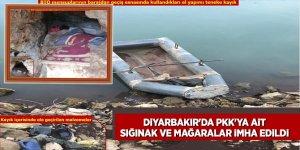 Diyarbakır'da PKK'ya ait sığınak ve mağaralar imha edildi