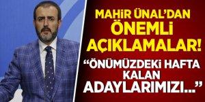 AK Parti, kalan adaylarını önümüzdeki hafta açıklayacak