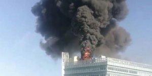 Çin'in başkenti Pekin'de Google'ın ofisinin  bulunduğu kulede yangın!.