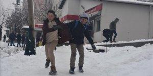 Kırklareli'nde eğitime kar engeli