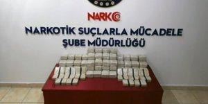 Malatya'da  durduruldu: 59 kilo eroin bulundu