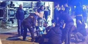 Maça giden Ankaragücü taraftarını taşıyan otobüs kaza yaptı