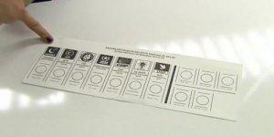 Yerel seçimde kullanılacak oy pusulası ilk kez görüntülendi