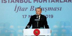 Erdoğan: 'Muhtarlık seçimlerinin yerel seçimlerden ayrılmasında yarar var'