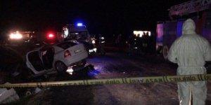 Korkunç kazada iki polis memuru hayatını kaybetti!