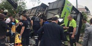 Kocaeli'de belediye otobüsü devrildi: 6 yaralı