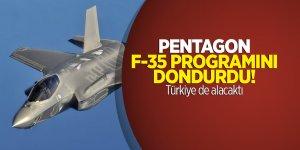 Pentagon F-35 programını dondurdu! Türkiye de alacaktı