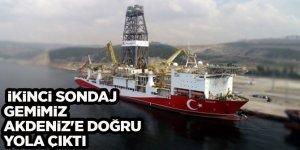 İkinci sondaj gemimiz Akdeniz'e doğru yola çıktı