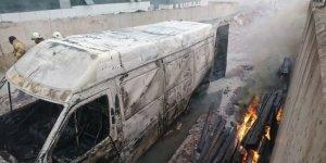 İstanbul Maltepe'de araç yangını!