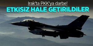 Irak'ta PKK'ya darbe! Etkisiz hale getirildiler