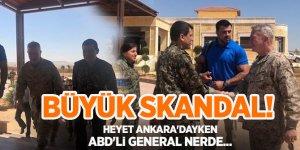 Büyük skandal! Heyet Ankara'dayken  generalleri YPG/PKK elebaşıyla görüştü
