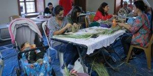 Kadınların El Emeği Göz Nuru Kurumuş Palmiye Yaprakları