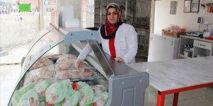 Kadın girişimci mikro krediyle kasap dükkanı açtı