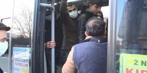 İstanbul'da 'balık istifi' minibüse para cezası kesildi