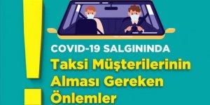 Sağlık Bakanlığından taksi durakları, şoför ve müşteriler için uyarı afişleri
