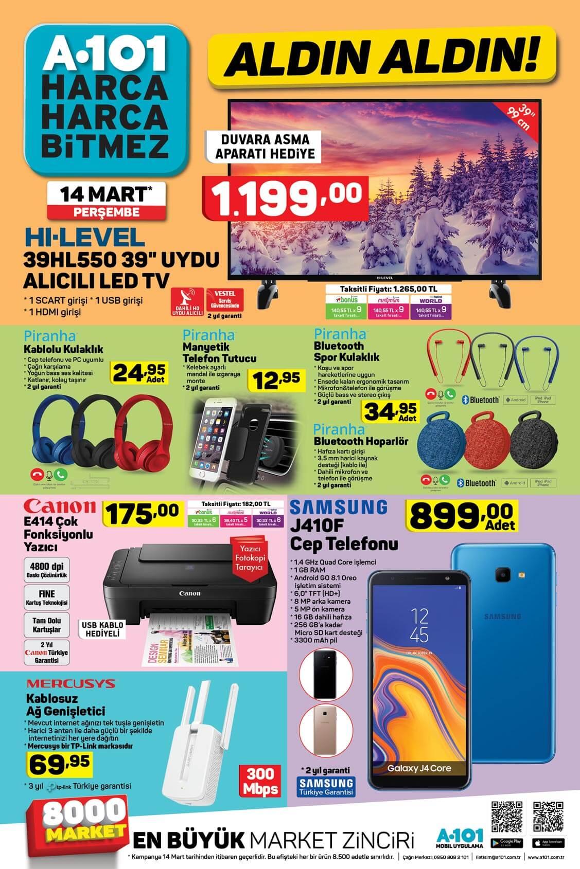 A101 14 Mart Aktüel Elektronik