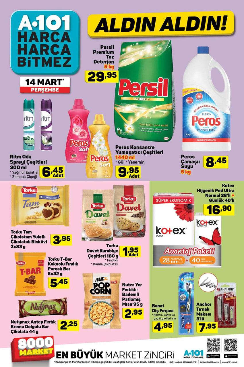A101 14 Mart Aktüel Temizlik Ürünleri