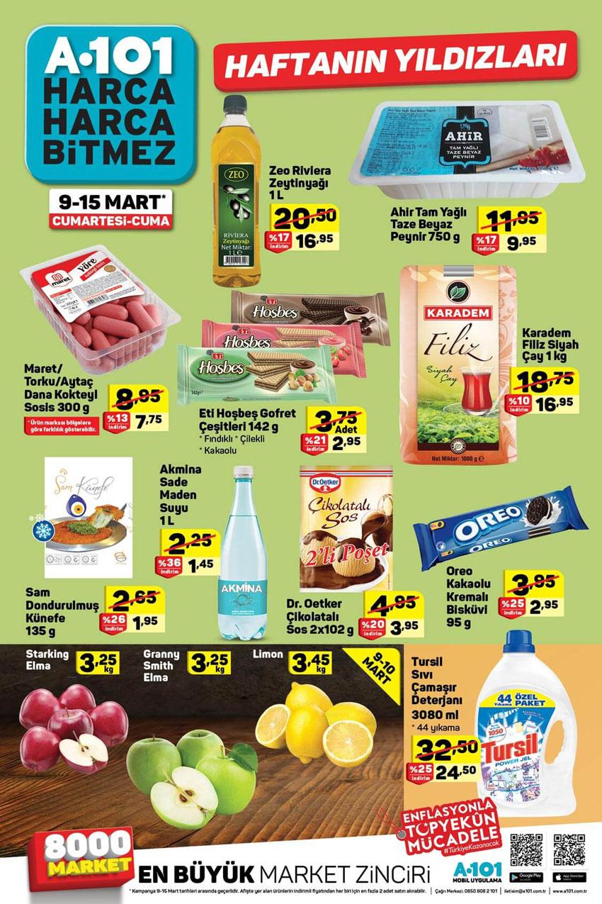 A101 9-15 Mart Aktüel Gıda