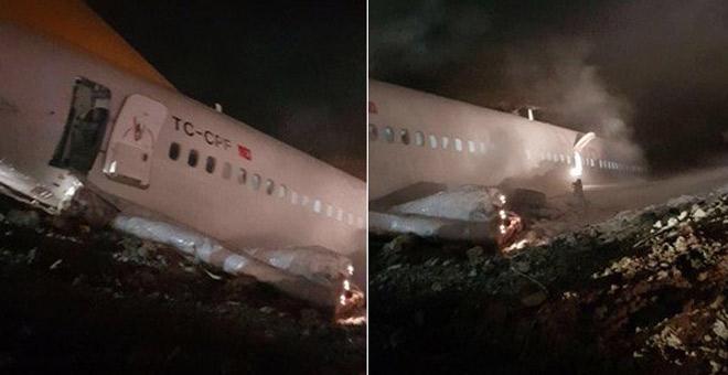 Trabzon Havalimanı'nda yolcu uçağı pistten çıktı