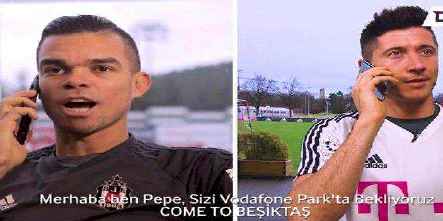 Pepe ve Negredo'dan Lewandowski'ye: Come to Beşiktaş