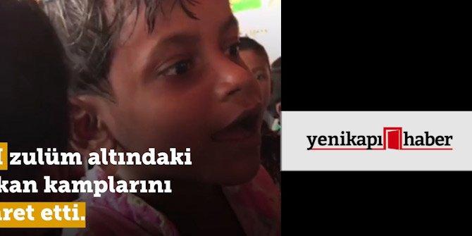 Ünlü oyuncu Sinan Albayrak Arakan'daki kampları görüntüledi