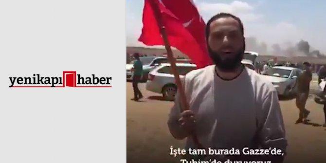 """Türk bayrağıyla İsrail'e karşı mücadele etti """"Sizi bekliyoruz"""""""