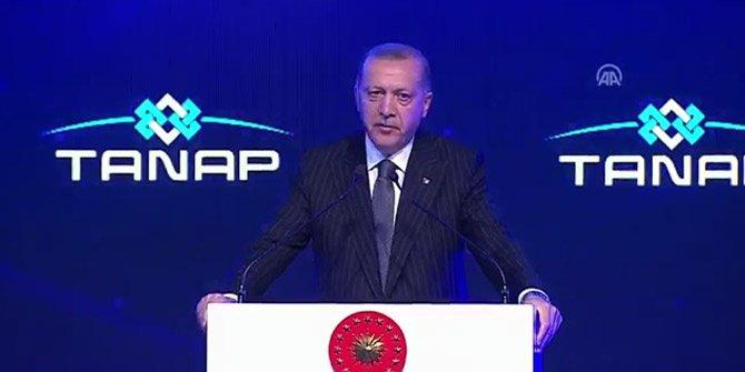 Cumhurbaşkanı Erdoğan: TANAP yeni projelerin müjdecisidir