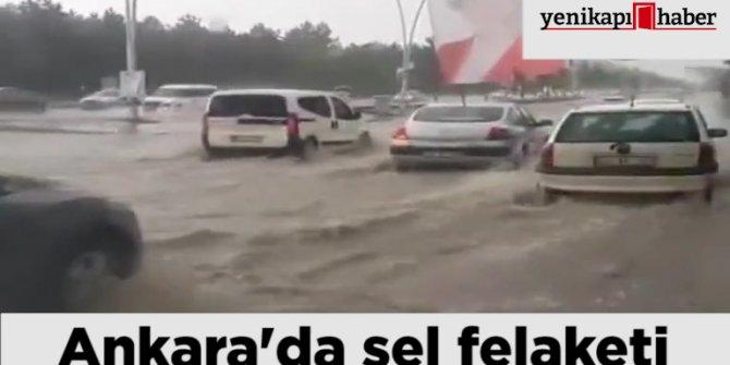 Ankara'da aşırı yağışlar trafikte zor anlar yaşattı