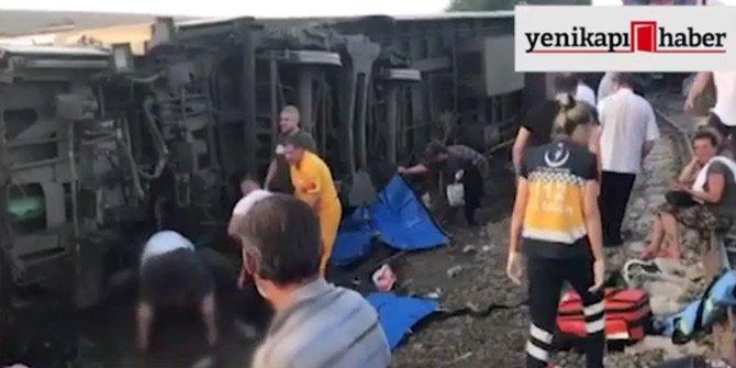 Tren kazası sonrası tüm imkanlar seferber edildi