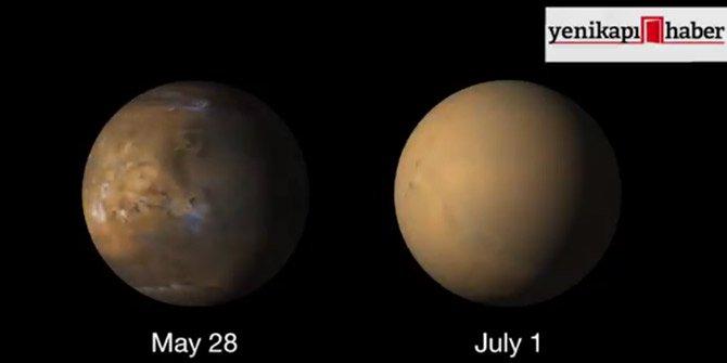 Mars yüzeyi tamamıyla değişti