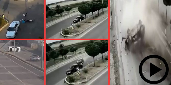 İnanılmaz trafik kazaları! Mobeselere böyle yansıdı