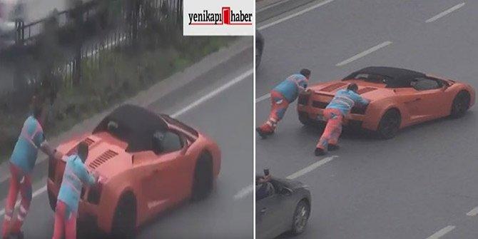 Lamborghini'yi işçiler kurtardı!