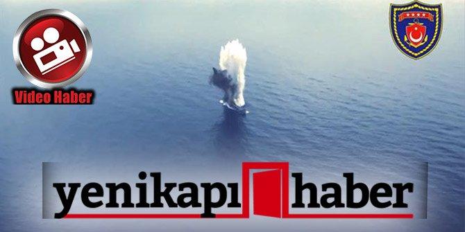 TSK, Harp torpidosu gemiyi tam isabetle vurdu!