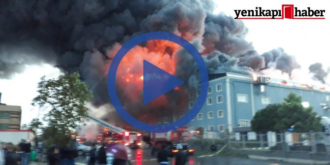 Esenyurt'ta 3 fabrikada yangın!