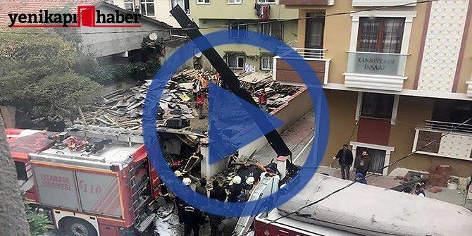 İstanbul Sancaktepe'de askeri helikopter düştü