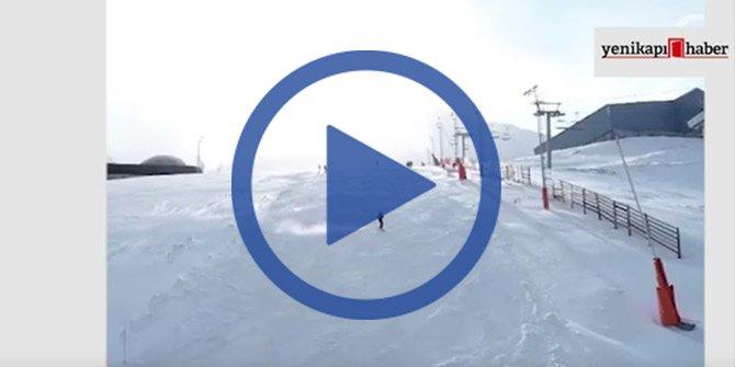 Erzurum'da kayak heyecanı!