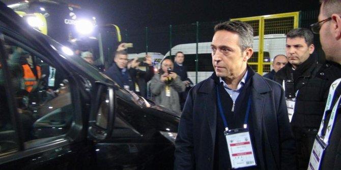 Fenerbahçe Başkanı Ali Koç, Akhisar'dan böyle ayrıldı - video izle