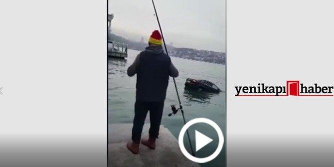 Kanlıca'da otomobil denize uçtu!