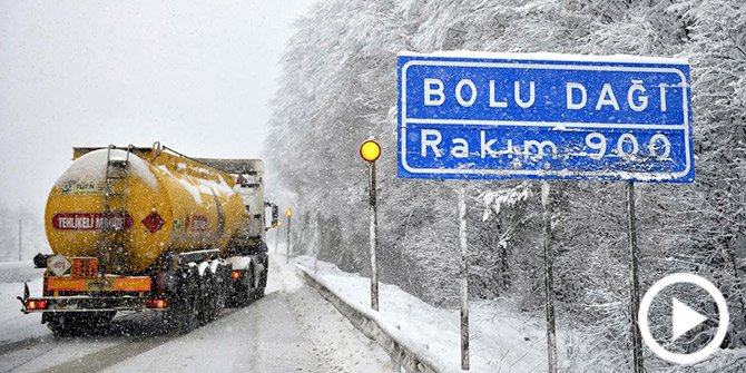 Bolu Dağı'nda Kar Güzelliği