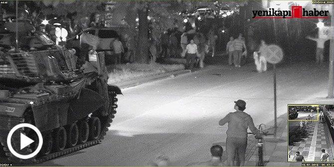Yer: Genelkurmay! İşte Tanklara direnen vatandaşlar...