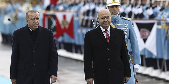 Başkan Erdoğan, Irak Cumhurbaşkanı Salih'i resmi törenle karşıladı