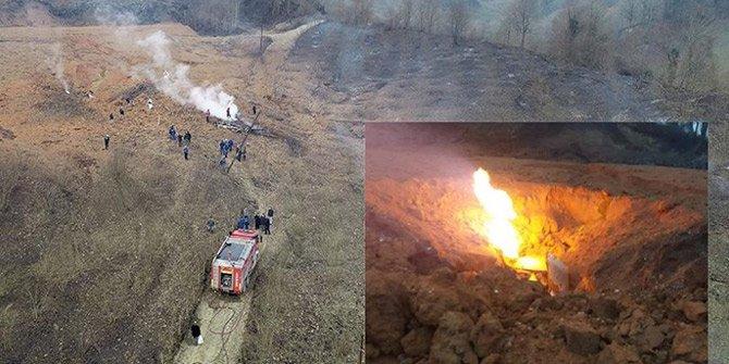 Sakarya'da doğal gaz dağıtım hattında yangın!