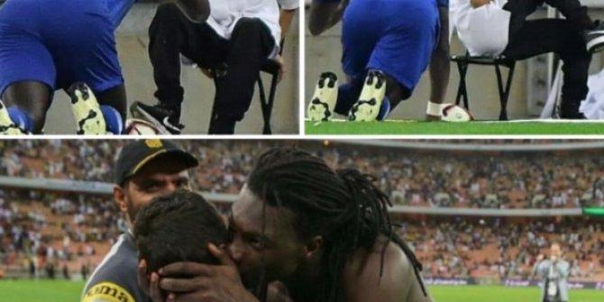 Bafetimbi Gomis'in gol sevinci, top toplayıcı çocuğu korkuttu - video izle