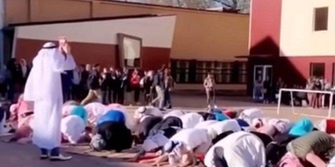 Belçika'da skandal görüntüler! Müslümanlarla dalga geçtiler