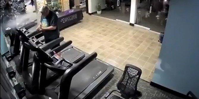 Koşu bandında başına gelebilecek en son şey geldi