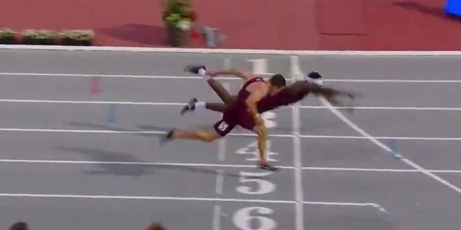 Yarışı uçarak kazandı
